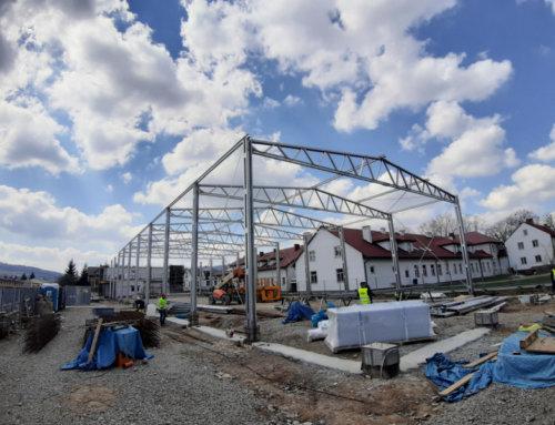 Hale których budowa rozpoczęła się w kwietniu