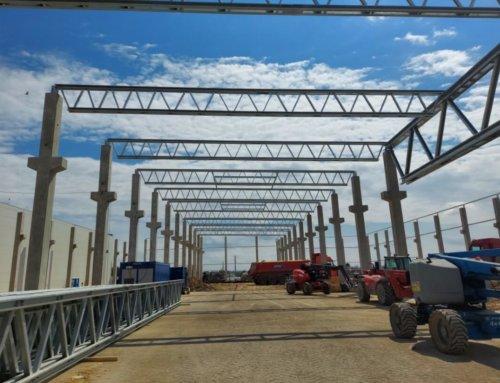 LLENTAB – wysokiej klasy specjalista w dziedzinie hal stalowych. Budowy rozpoczęte w kwietniu 2021